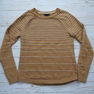 TOMMY HILFIGER Cream Striped Pullover Sweater